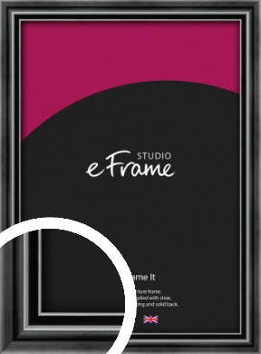 Rounded Modern Black Picture Frame (VRMP-A074)