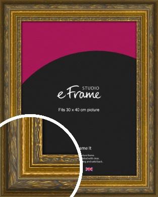 Art Nouveau Gold Picture Frame, 30x40cm (VRMP-1346-30x40cm)