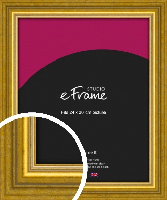 Art Deco Inspired Gold Picture Frame, 24x30cm (VRMP-1347-24x30cm)