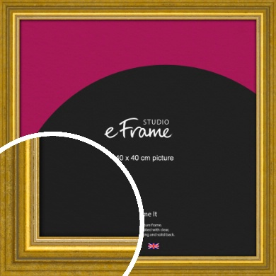 Art Deco Inspired Gold Picture Frame, 40x40cm (VRMP-1347-40x40cm)