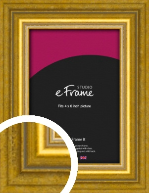 Art Deco Inspired Gold Picture Frame, 4x6