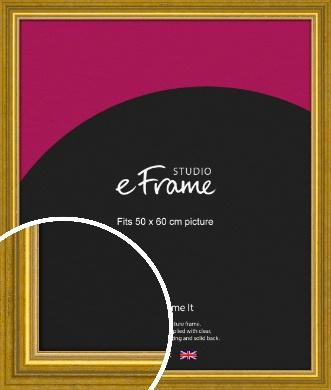Art Deco Inspired Gold Picture Frame, 50x60cm (VRMP-1347-50x60cm)