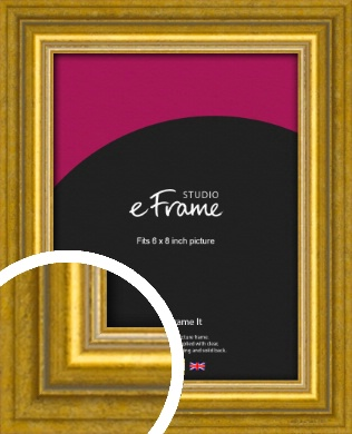 Art Deco Inspired Gold Picture Frame, 6x8