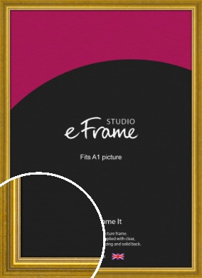 Art Deco Inspired Gold Picture Frame, A1 (594x841mm) (VRMP-1347-A1)
