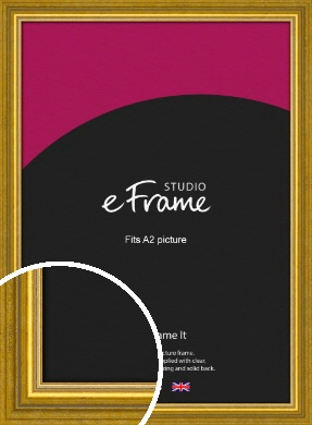 Art Deco Inspired Gold Picture Frame, A2 (420x594mm) (VRMP-1347-A2)