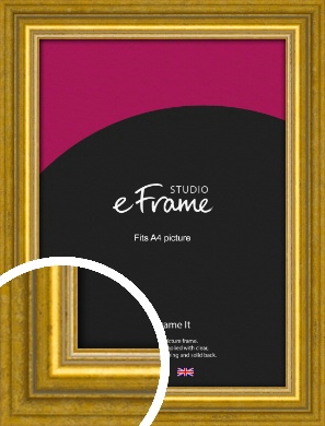 Art Deco Inspired Gold Picture Frame, A4 (210x297mm) (VRMP-1347-A4)