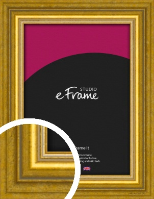 Art Deco Inspired Gold Picture Frame (VRMP-1347)