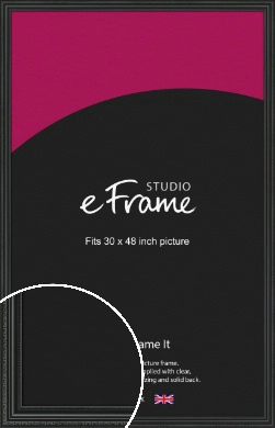 Georgian Black Picture Frame, 30x48