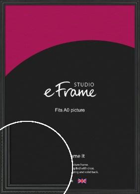 Georgian Black Picture Frame, A0 (841x1189mm) (VRMP-1350-A0)