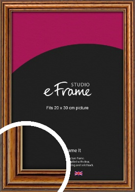 Vintage Brown Picture Frame, 20x30cm (8x12