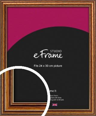 Vintage Brown Picture Frame, 24x30cm (VRMP-194-24x30cm)
