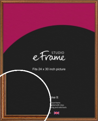 Vintage Brown Picture Frame, 24x30
