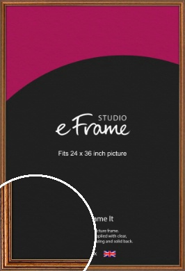 Vintage Brown Picture Frame, 24x36
