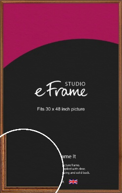 Vintage Brown Picture Frame, 30x48