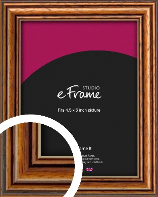 Vintage Brown Picture Frame, 4.5x6