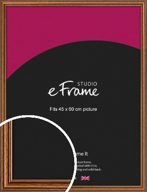 Vintage Brown Picture Frame, 45x60cm (VRMP-194-45x60cm)
