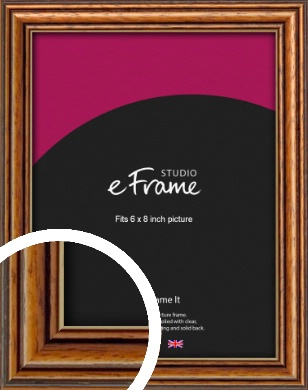Vintage Brown Picture Frame, 6x8