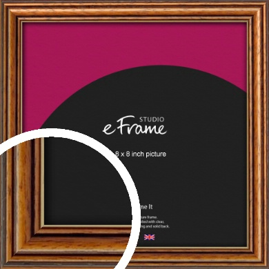Vintage Brown Picture Frame, 8x8