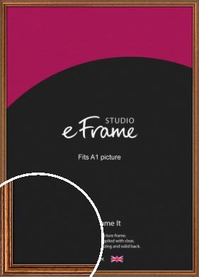 Vintage Brown Picture Frame, A1 (594x841mm) (VRMP-194-A1)