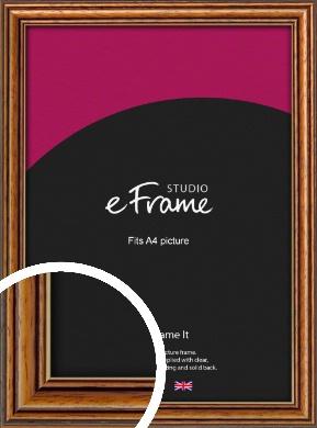 Vintage Brown Picture Frame, A4 (210x297mm) (VRMP-194-A4)