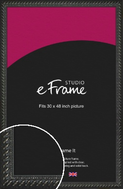 Gothic Black Picture Frame, 30x48