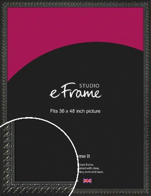 Gothic Black Picture Frame, 36x48