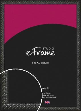 Gothic Black Picture Frame, A0 (841x1189mm) (VRMP-1352-A0)