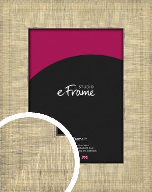 Linen Pattern Silver Picture Frame (VRMP-491)