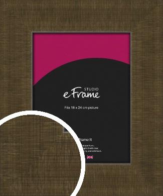 Crosshatch Bronze / Copper Picture Frame, 18x24cm (VRMP-1357-18x24cm)