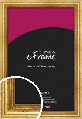 Vintage Gold Picture Frame, 11x17