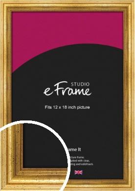 Vintage Gold Picture Frame, 12x18