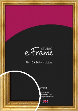 Vintage Gold Picture Frame, 16x24