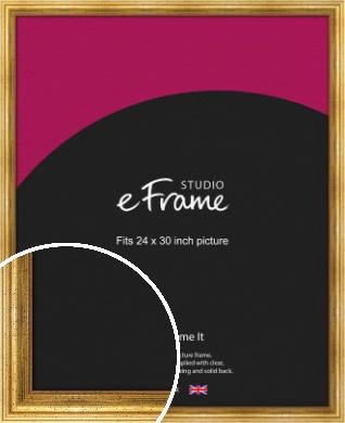 Vintage Gold Picture Frame, 24x30