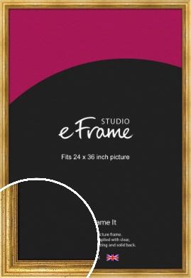 Vintage Gold Picture Frame, 24x36