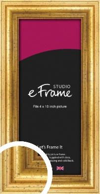 Vintage Gold Picture Frame, 4x10