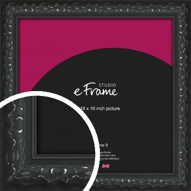Ornamental Silver & Black Picture Frame, 10x10