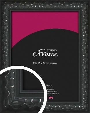 Ornamental Silver & Black Picture Frame, 18x24cm (VRMP-1364-18x24cm)