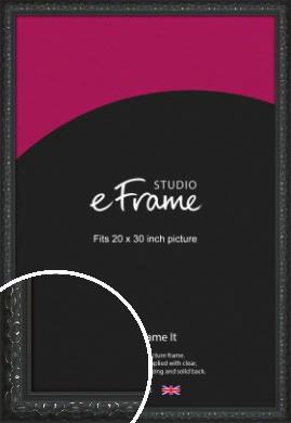 Ornamental Silver & Black Picture Frame, 20x30