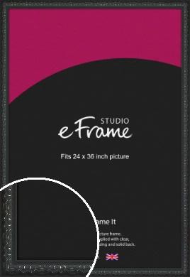 Ornamental Silver & Black Picture Frame, 24x36