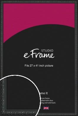 Ornamental Silver & Black Picture Frame, 27x41