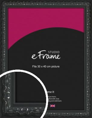 Ornamental Silver & Black Picture Frame, 30x40cm (VRMP-1364-30x40cm)