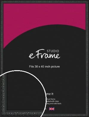 Ornamental Silver & Black Picture Frame, 30x40