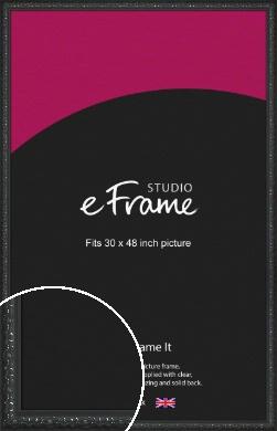 Ornamental Silver & Black Picture Frame, 30x48
