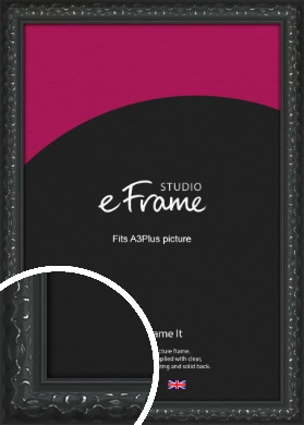 Ornamental Silver & Black Picture Frame, A3Plus (VRMP-1364-329x483mm)