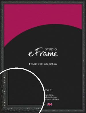Ornamental Silver & Black Picture Frame, 60x80cm (VRMP-1364-60x80cm)