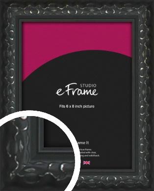 Ornamental Silver & Black Picture Frame, 6x8