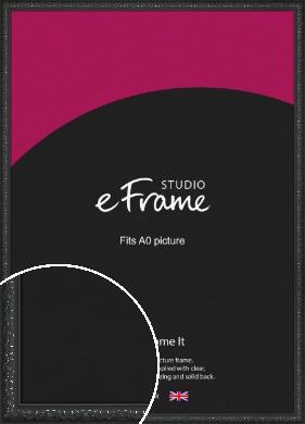 Ornamental Silver & Black Picture Frame, A0 (841x1189mm) (VRMP-1364-A0)
