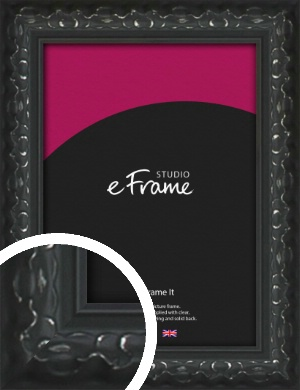 Ornamental Silver & Black Picture Frame (VRMP-1364)