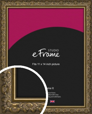 Clamshell Pattern Bronze / Copper Picture Frame, 11x14