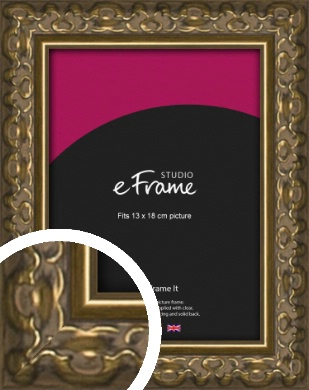 Clamshell Pattern Bronze / Copper Picture Frame, 13x18cm (5x7